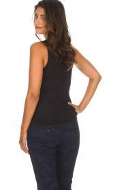 Hanro | Top Cotton Lace | zwart  | Afbeelding 4