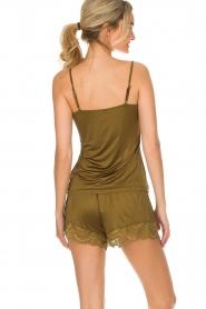 Hanro | Pyjama shorts Micky | groen  | Afbeelding 4