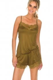 Hanro | Pyjama shorts Micky | groen  | Afbeelding 2