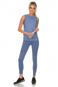 Varley |  Soft sports top with low-cut armholes Kennedy | blue  | Picture 3