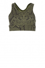 Varley |  Sports bra with snake print Berkely | green  | Picture 1