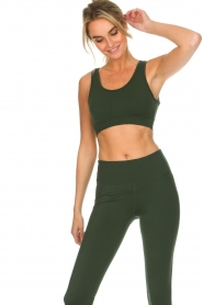 Varley |  Sports bra with mesh details Russel | green  | Picture 3