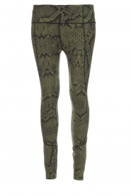 Varley |  Sports leggings with snake print Bedfort TIght | green