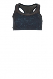 Varley |  Sports bra with marble print Bandini | blue  | Picture 1