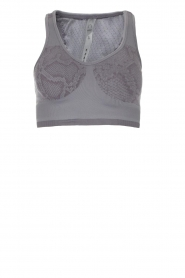 Varley |  Sports bra with snake print Perkins | grey  | Picture 1
