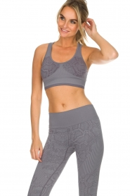 Varley |  Sports bra with snake print Perkins | grey  | Picture 4