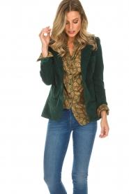 Lois Jeans |  Corduroy blazer Telma | green  | Picture 4