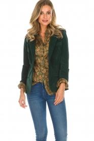 Lois Jeans |  Corduroy blazer Telma | green  | Picture 2