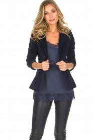 Lois Jeans |  Corduroy blazer Telma | blue  | Picture 4
