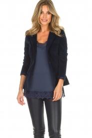 Lois Jeans |  Corduroy blazer Telma | blue  | Picture 2