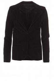 Lois Jeans |  Corduroy blazer Telma | black  | Picture 1
