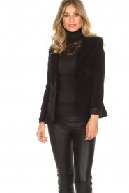 Lois Jeans |  Corduroy blazer Telma | black  | Picture 2