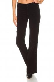 Lois Jeans |  Velvet flared jeans Rawal L34 | black  | Picture 3
