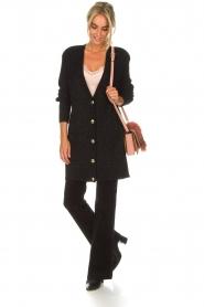 Lois Jeans |  Velvet flared jeans Rawal L34 | black  | Picture 2