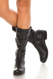 Noe |  Leather boots Nuca | black  | Picture 3