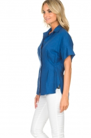 By Malene Birger | Blouse Omnific | blauw  | Afbeelding 4