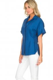 By Malene Birger | Blouse Omnific | blauw  | Afbeelding 5