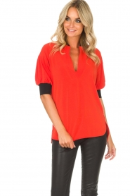 By Malene Birger | Top Billum | rood  | Afbeelding 4