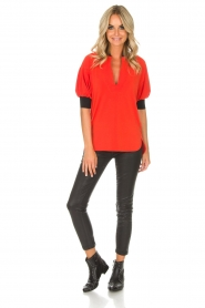 By Malene Birger | Top Billum | rood  | Afbeelding 3