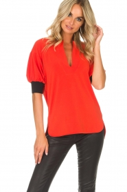 By Malene Birger | Top Billum | rood  | Afbeelding 2
