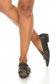 Toral | Leren loafers met studs Kelly | zwart  | Afbeelding 3
