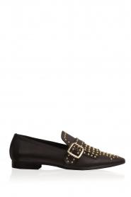 Toral | Leren loafers met studs Kelly | zwart  | Afbeelding 1