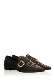Toral | Leren loafers met studs Kelly | zwart  | Afbeelding 4