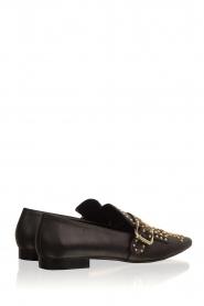 Toral | Leren loafers met studs Kelly | zwart  | Afbeelding 5