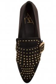 Toral | Leren loafers met studs Kelly | zwart  | Afbeelding 6