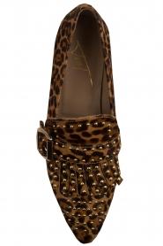 Toral | Loafers met studs Kelly | dierenprint  | Afbeelding 6