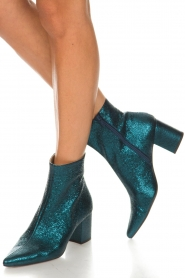 Toral |  Leather ankle boots Dameira | blue  | Picture 2