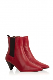 Toral |  Leather ankle boots Tibet | red  | Picture 4