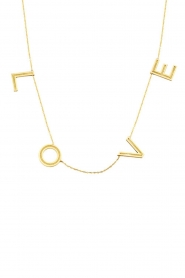 Just Franky |  14k gold Love letter necklace - Big | gold  | Picture 1