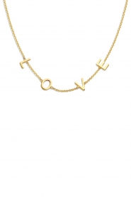 Just Franky |  14k gold Love letter necklace - Small | gold  | Picture 1