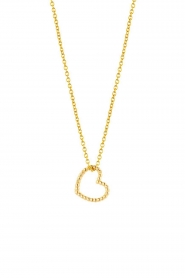 Just Franky |  14k gold Vintage Heart necklace | gold  | Picture 1