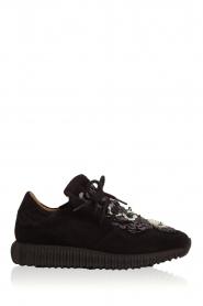 SVNTY   Suède sneakers Flower   zwart    Afbeelding 2