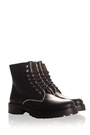 SVNTY |  Leather biker boots Nadia | black  | Picture 4