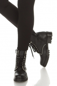 SVNTY |  Leather biker boots Nadia | black  | Picture 3