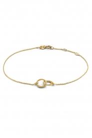Just Franky |  14k gold Vintage Open Circle bracelet | gold  | Picture 1