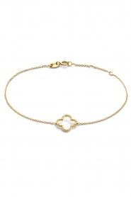 Just Franky |  14k gold Vintage Clover bracelet | gold  | Picture 1