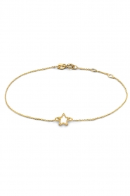 Just Franky |  14k bracelet Star | gold  | Picture 1