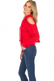 Essentiel Antwerp |  Sweater with bow Rouaniemi | red  | Picture 5