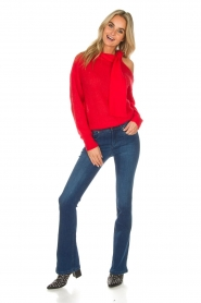 Essentiel Antwerp |  Sweater with bow Rouaniemi | red  | Picture 3