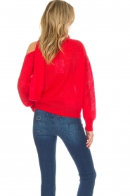 Essentiel Antwerp |  Sweater with bow Rouaniemi | red  | Picture 6