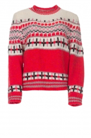 Sweater with glitter details Rochers | red