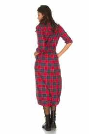 Essentiel Antwerp |  Checkered long dress Repoux | red  | Picture 6