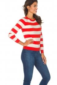 Essentiel Antwerp |  Striped sweater Ricard | red  | Picture 4