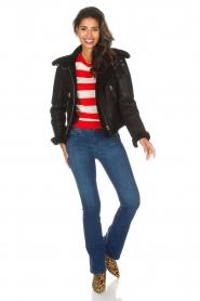 Essentiel Antwerp |  Striped sweater Ricard | red  | Picture 3