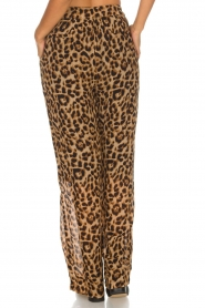 Essentiel Antwerp |  Wide leg pants with leopard print Remorse | animal print  | Picture 5