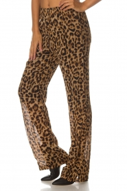Essentiel Antwerp |  Wide leg pants with leopard print Remorse | animal print  | Picture 4